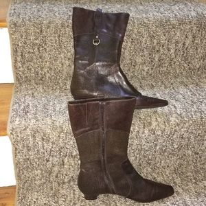 Etienne Aigner brown leather boots